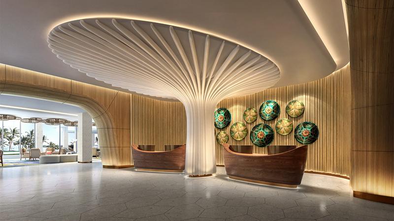 Interior design by LEO A DALY