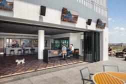 Carson headquarters design open terrace lounge