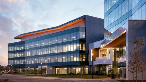 exterior view entrance carson headquarters building