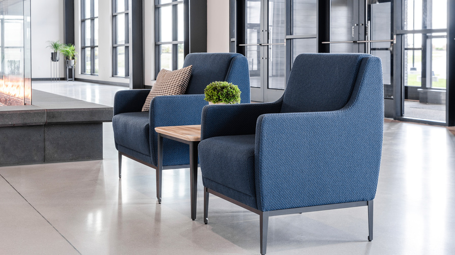 LEO A DALY introduces public-setting furniture inspired by hospitality and healthcare design