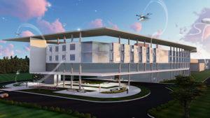 drone powered hospital