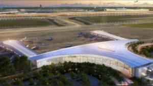 Aerial rendering of New Orleans International Airport
