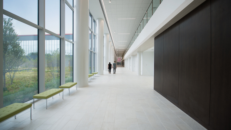 Interior of Intelligence Community Campus Bethesda, designed by LEO A DALY