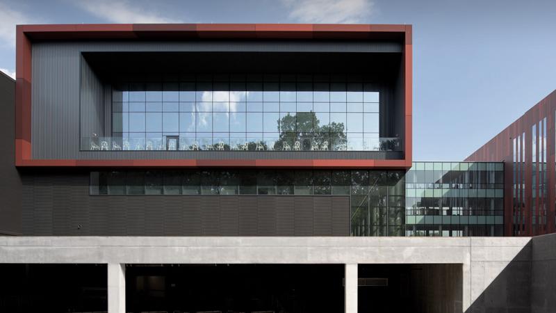 Balcony of Intelligence Community Campus Bethesda, designed by LEO A DALY