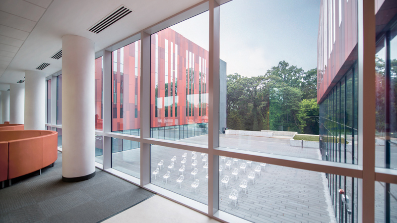 Courtyard of Intelligence Community Campus Bethesda, designed by LEO A DALY
