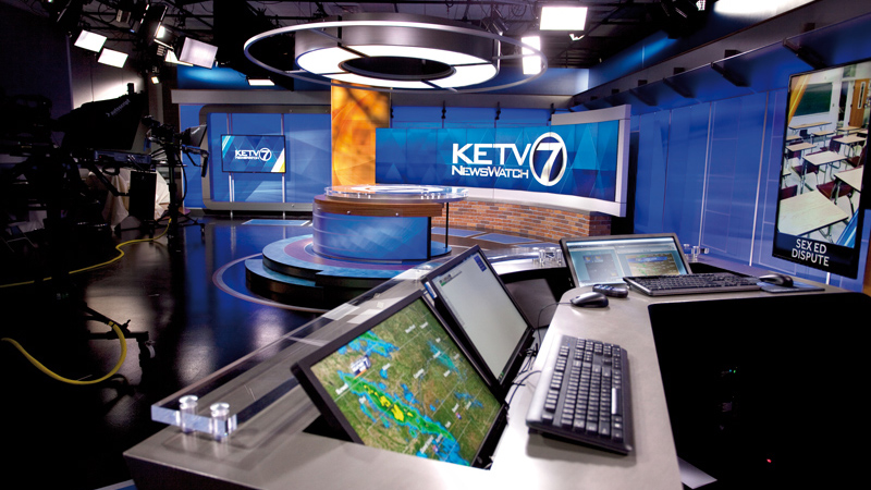 Broadcast studio of KETV 7 in Omaha, designed by LEO A DALY