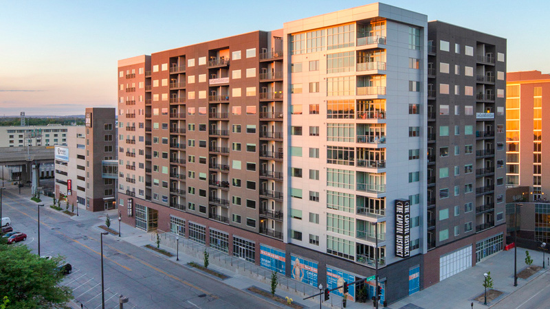Omaha's Capitol District apartments, designed by LEO A DALY
