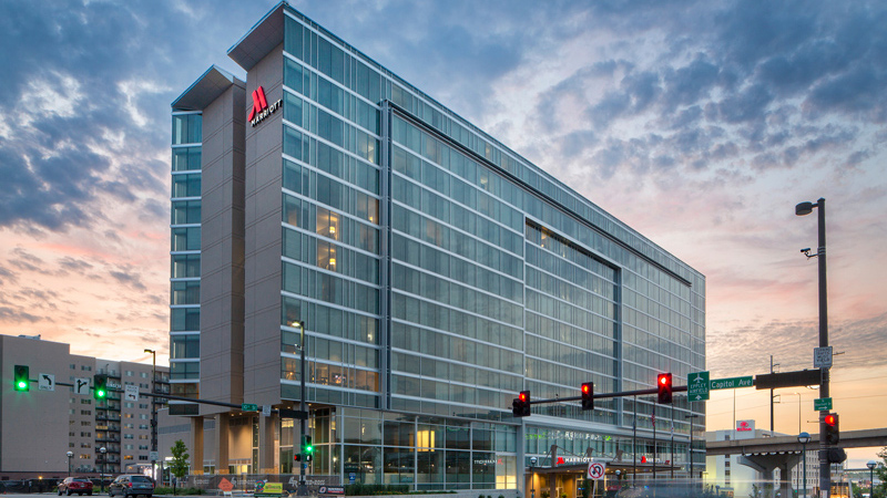 Marriott Downtown Omaha at the Capitol District, designed by LEO A DALY