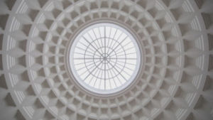 Rotunda oculus of Corcoran School of the Arts & Design, renovation designed by LEO A DALY