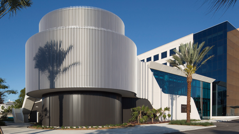 Exterior of Royal Caribbean Innovation Lab, designed by LEO A DALY