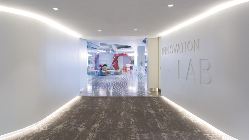 Entrance of Royal Caribbean Innovation Lab, designed by LEO A DALY