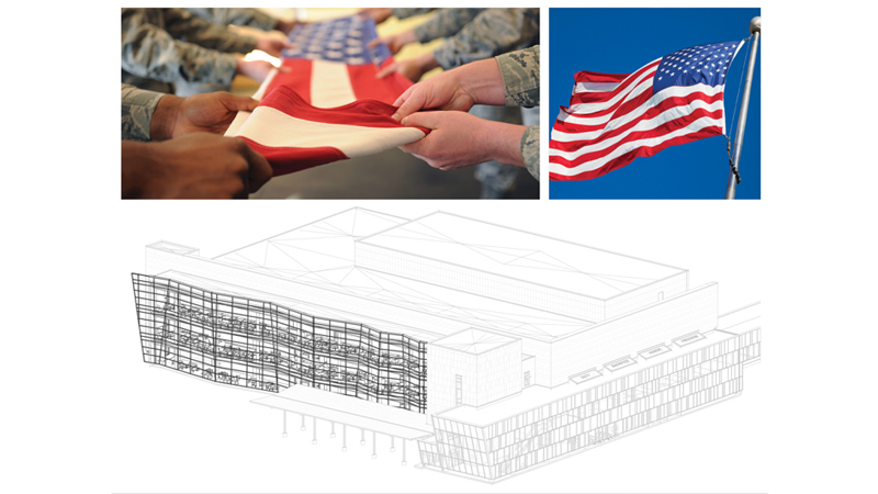 Inspiration for curtain wall of VA Omaha ambulatory care clinic, designed by LEO A DALY