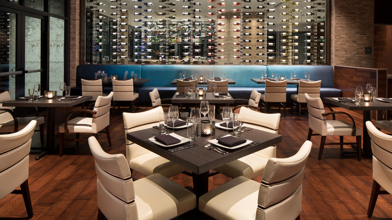 Restaurant at Zota Beach Resort, designed by LEO A DALY