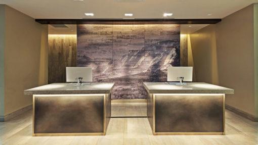 Boulder Marrioott hotel entry hal design