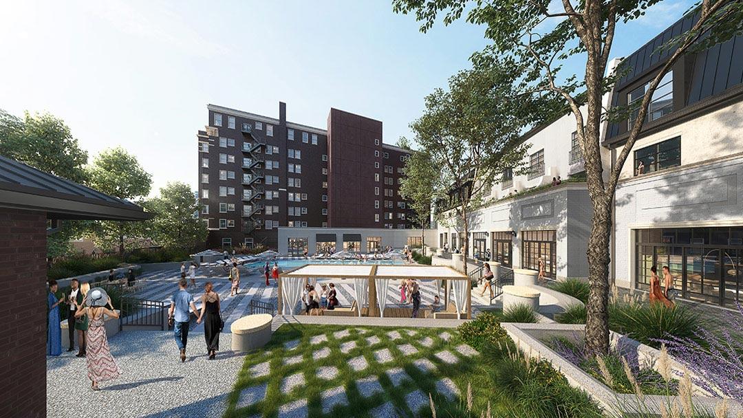 kimpton cottonwood hotel pool deck rendering