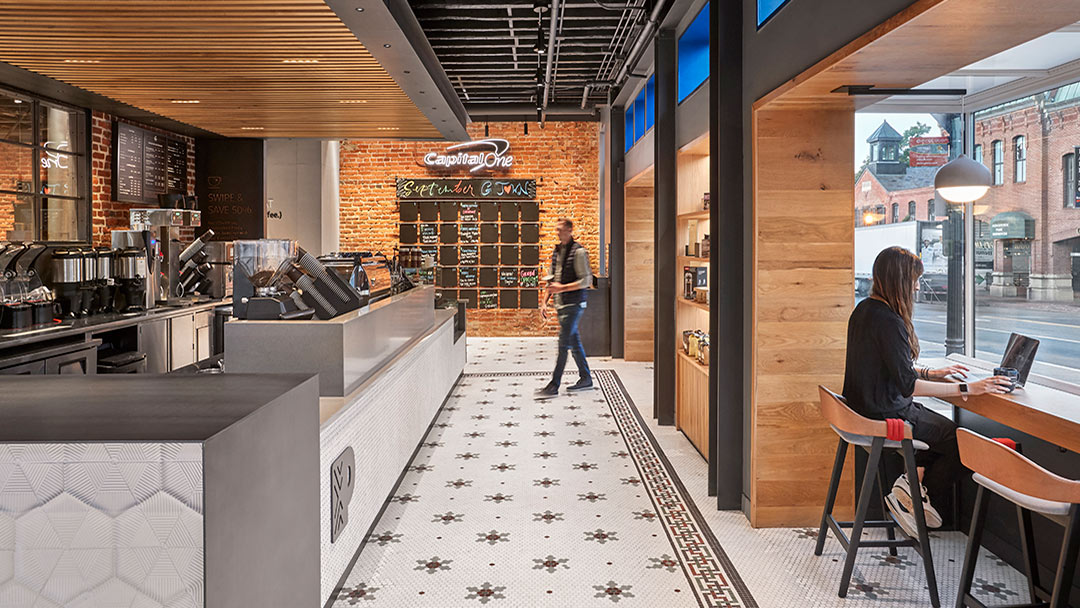 capital one bank cafe coffee bar