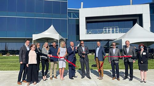 Carson headquarters ribbon cutting