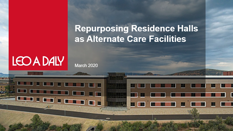 Repurposing Residence Halls as Alternate Care Facilities