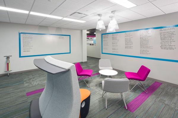 Fusion has several open, collaborative areas